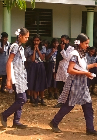 Girls at Gnana Deepam Matriculation School in India