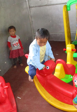Pre-school equipment in Nepal